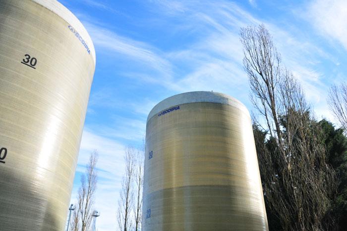 Exemple de cuves de stockage en milieu agricole